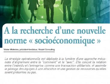 A la recherche d'une nouvelle norme « socioéconomique »